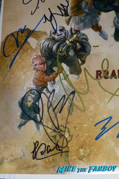 Ready player one signed autograph goonies poster psa