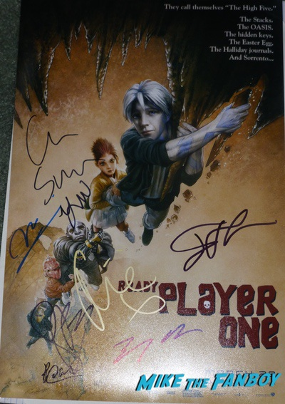 Ready player one signed autograph goonies poster psa Ready player one signed autograph goonies poster psa