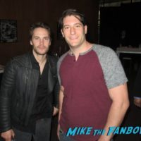 Taylor Kitsch with fans signing autographs selfie 0000