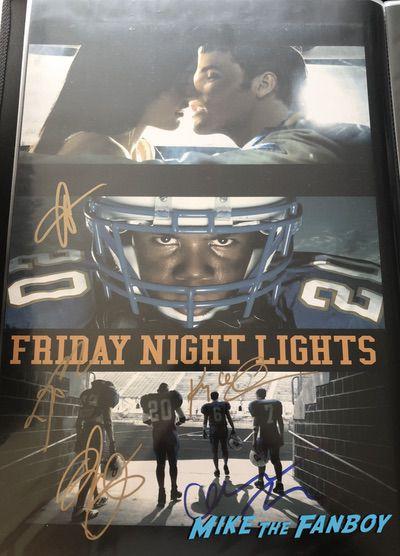 Taylor Kitsch signed Friday night lights poster psa