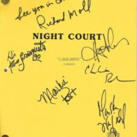 night court signed script Harry Anderson Autograph PSA