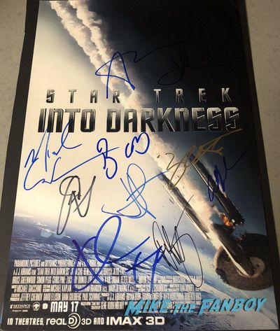 zachary Quinto signed autograph Star trek into darkness poster psa rare chris pine