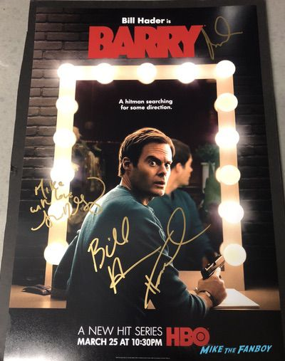 Bill Hader signed autograph poster barry Season one
