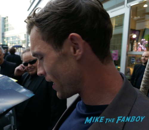 Natalie Dormer and Ed Skrein meeting fans signing autographs 0007