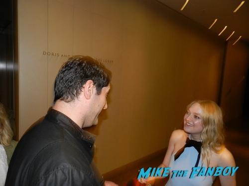 Dakota Fanning with fans signing autographs selfie Alienist fyc