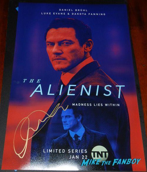 Luke Evans signed Autograph The Alienist Character poster rare psa