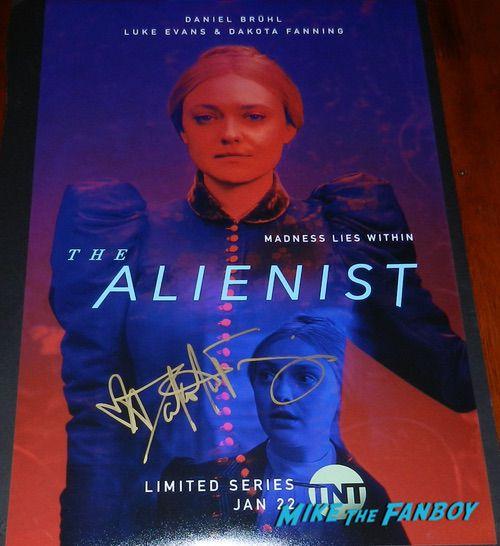 Dakota Fanning signed Autograph The Alienist Character poster rare psa