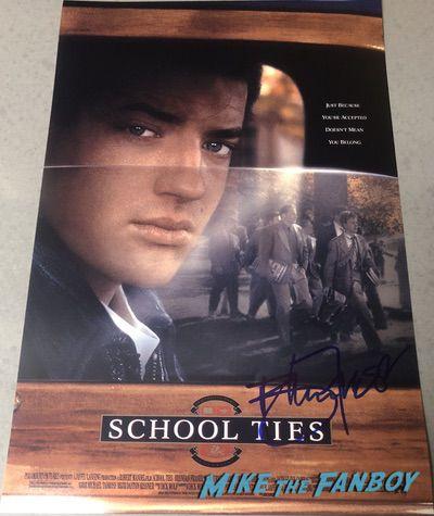 Brendan Fraser Signed Autograph School Ties poster PSA