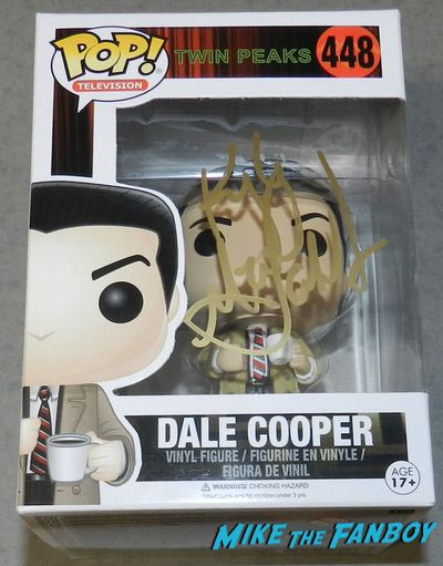 Agent Cooper signed autograph funko pop Kyle MacLachlan twin peaks