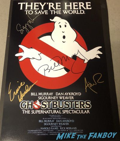 Annie Potts signed Ghostbusters poster PSA