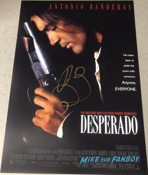 Antonio Banderas signed autograph desperado poster