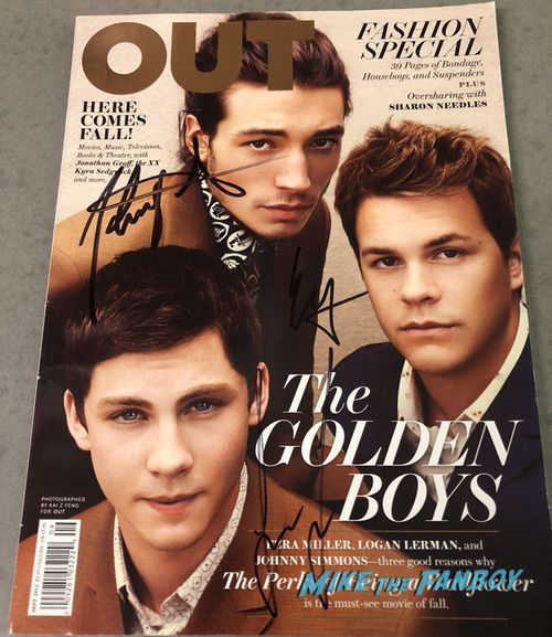 Ezra Miller signed autograph The Perks of Being A Wallflower OUT Magazine psa