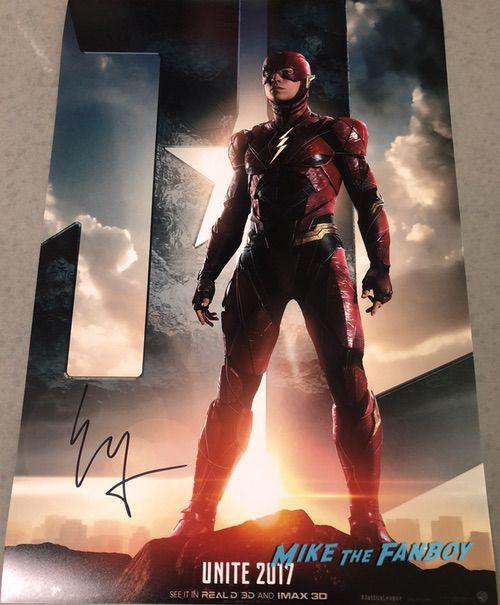 Ezra Miller signed autograph The Flash Poster PSA