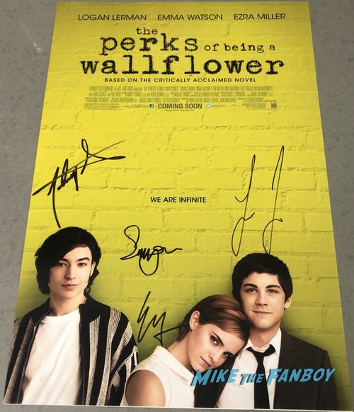 Ezra Miller signed autograph The Perks of Being A Wallflower poster psa
