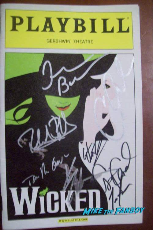 Wicked Signed Autograph Playbill