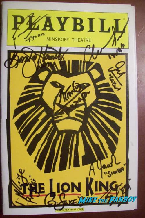The Lion King Signed Autograph Playbill