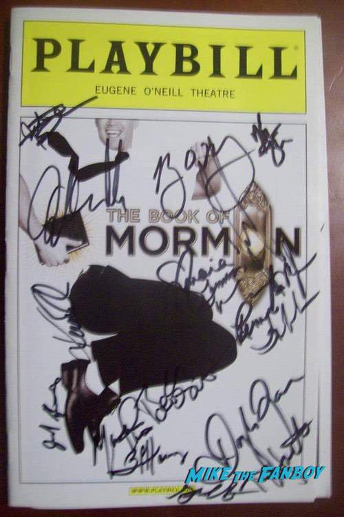 The Book of Mormon Signed Autograph Playbill