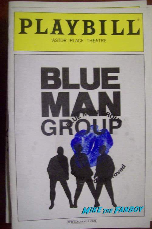 Blue Man Group Signed Autograph Playbill