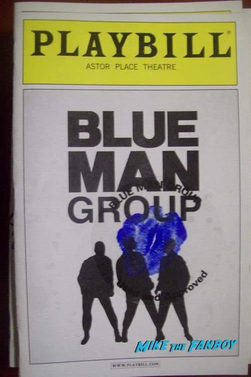 Blue Man Group Signed Autograph Playbill