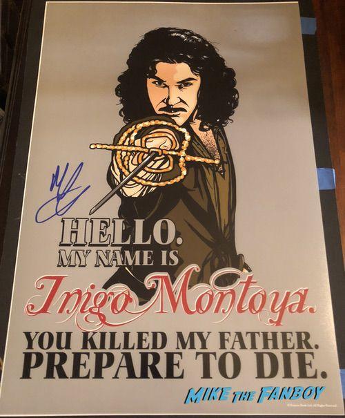 Mandy Patinkin signed autograph princess bride inigo Montoya character poster