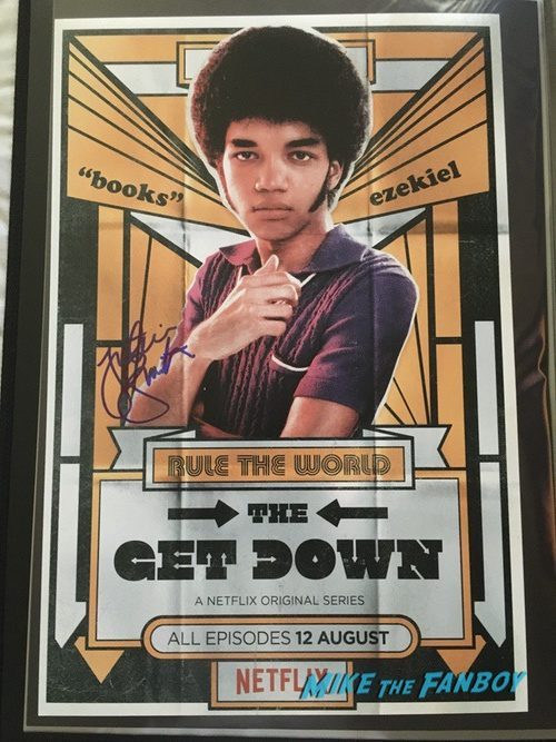Justice Smith signed autograph get down poster rare