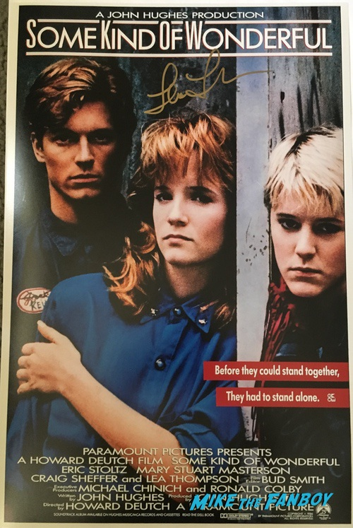 Lea Thompson signed autograph some kind of wonderful poster PSA