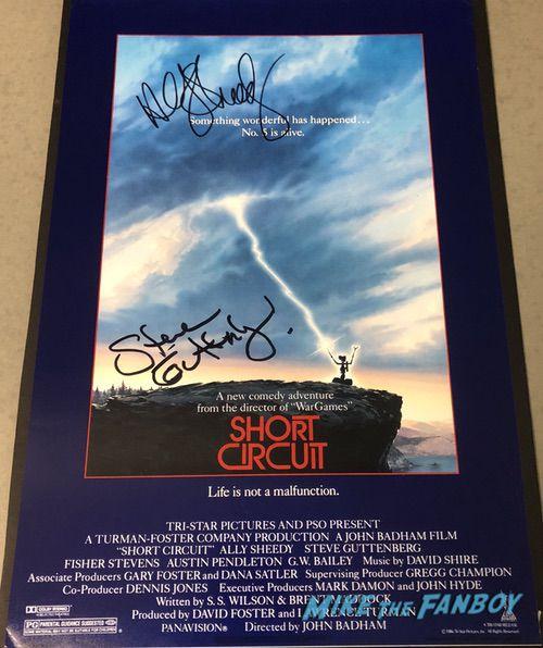 Steve Guttenberg ally sheedy signed autograph Short Circuit poster
