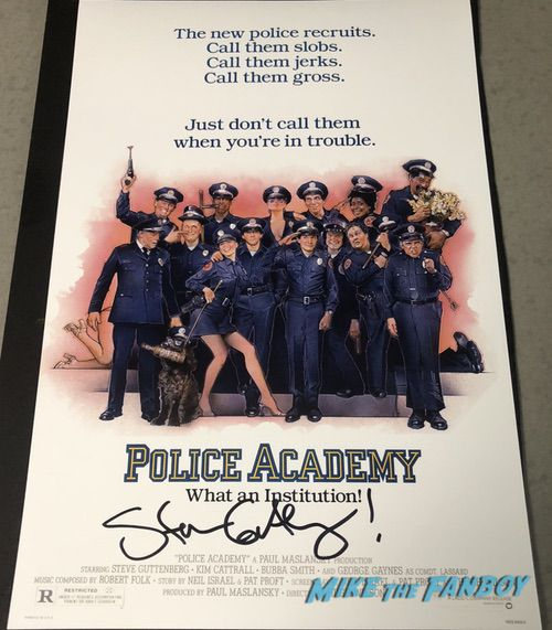 Steve Guttenberg signed autograph Police Academy poster PSA