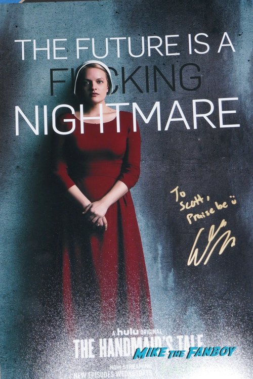The Handmaid's Tale Signed Autograph poster PSA elisabeth moss