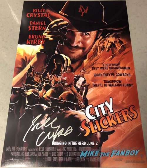 Billy Crystal Signed Autograph City Slickers Poster 0002