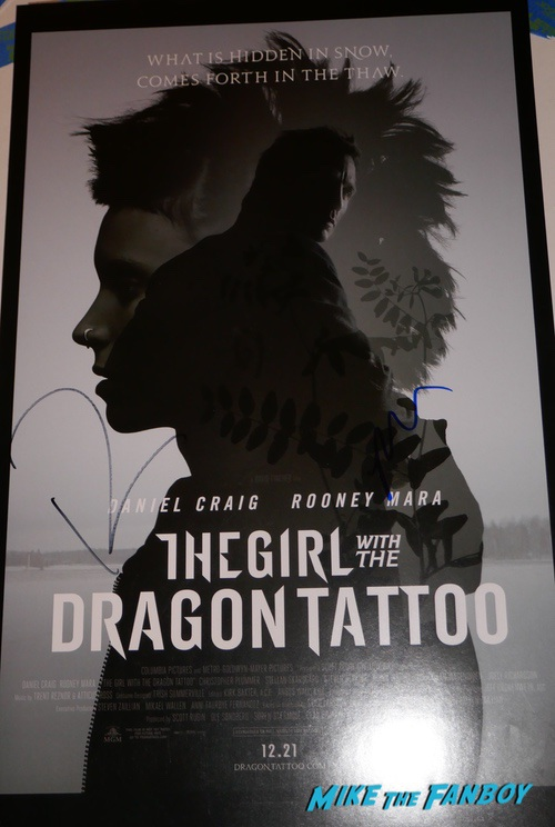 Rooney Mara Signed autograph poster psa