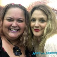 Drew Barrymore with fans