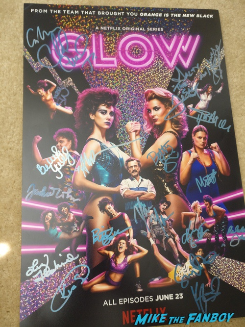 GLOW signed autograph poster psa