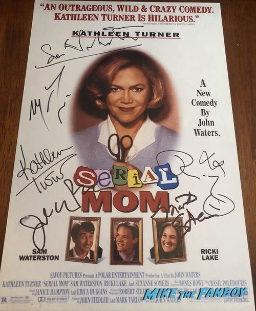 Serial Mom cast signed autograph poster ricki lake john waters