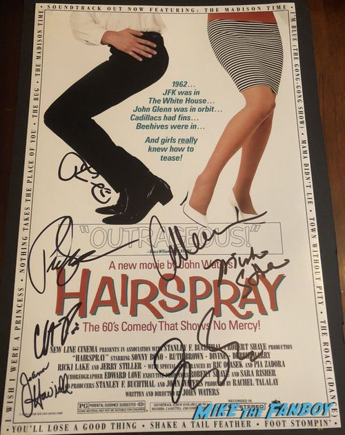 Hairspray cast signed autograph poster ricki lake john waters