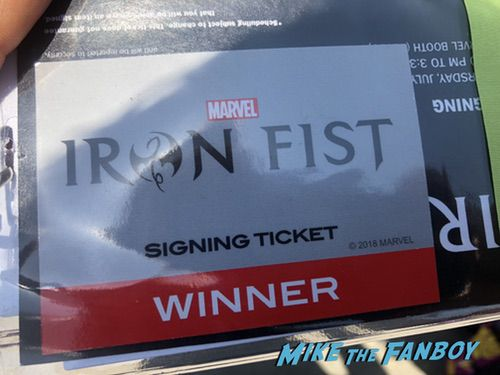 Iron Fist comic con autograph signing 0000