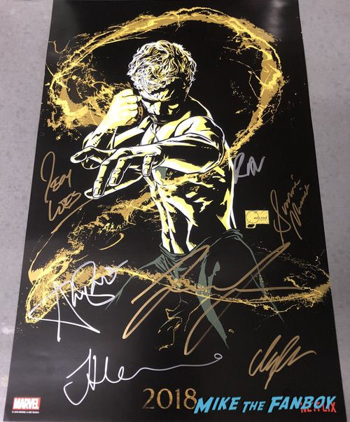 Iron Fist sdcc signed poster 2018