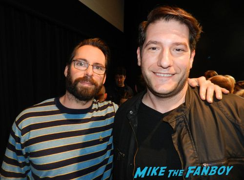 Martin Starr with fans signing autographs 0007
