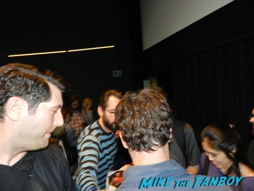 Martin Starr with fans signing autographs 0010