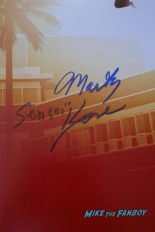 Cobra Kai martin kove signed poster rare signature psa