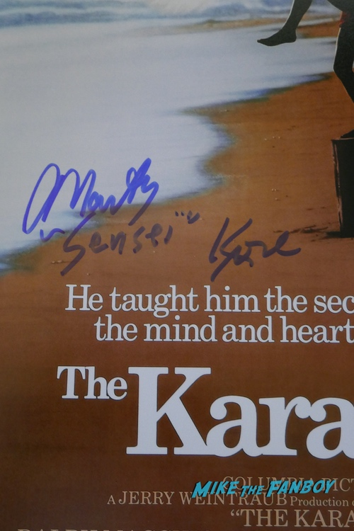 the karate kid martin kove signed poster rare signature psa