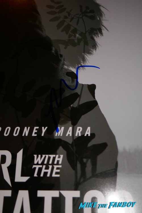 Rooney Mara Signed autograph poster psa Rooney Mara Signed autograph poster psa