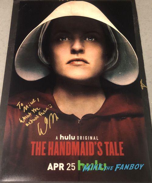 The Handmaid's Tale cast signed autograph poster elisabeth moss psa