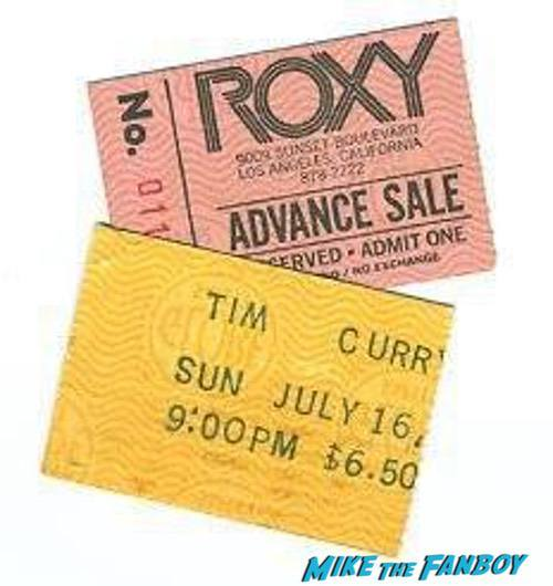 Tim Curry Roxy signed autograph 0000