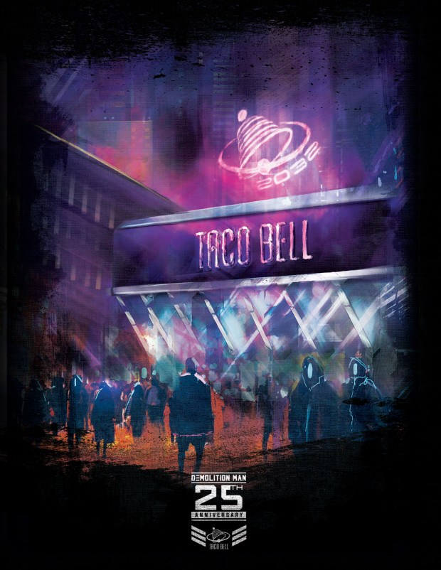 """""""After making the biggest debut in Taco Bell history in January, the hugely popular Nacho Fries are back for a summer sequel, returning to menus July 12. To celebrate their return, Taco Bell will honor the 25th Anniversary of Warner Bros. Pictures' action sci-fi film Demolition Man, and its prediction of a utopian future where """"all restaurants are Taco Bell,"""" with a re-creation of the iconic restaurant from the movie. Demolition Man, a 1993 Warner Bros. Pictures' cult-classic in its own right, gained fame for its utopian predictions of 2032 – where Taco Bell was the only restaurant to survive the Franchise Wars. But since the film's release 25 years ago – one question remains unanswered: how? Leading up to the July 12 return of Nacho Fries, answers will be revealed with exciting creative in the sequel to Web of Fries I. Culminating with a Demolition Man pop-up and a futuristic and upscale Taco Bell dining experience July 19 – 21 in San Diego just outside the holy-grail of science fiction. More details and sneak peeks into the experience to follow. Nacho Fries will be available for a limited time a la carte for $1.29 and also served Supreme for $2.49 or BellGrande for $3.49, topped with classic Taco Bell add-ons including beef, nacho cheese sauce, tomatoes and sour cream and also in a $5 box with Nacho Fries, a Doritos® Locos Taco, a Beefy 5-Layer Burrito and Medium Drink."""""""
