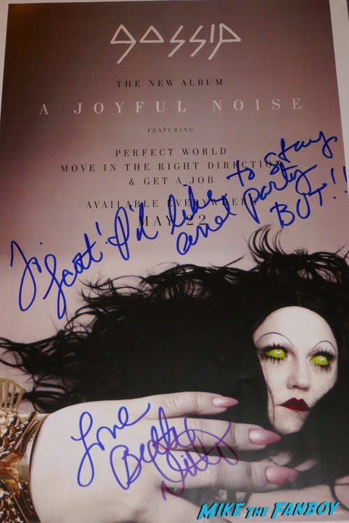 Beth Ditto signed autograph photo psa