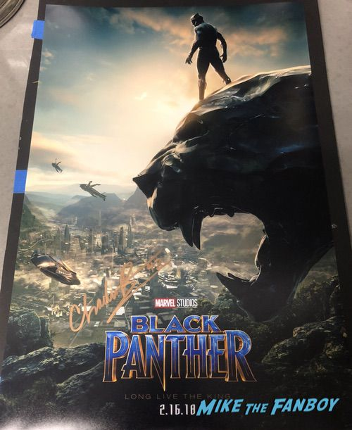 Chadwick boseman signed autograph black panther poster psa