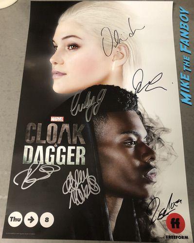 Cloak & Dagger signed autograph poster psa comic con