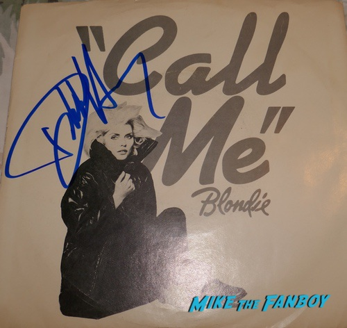 Debbie Harry signed blondie lp cover are