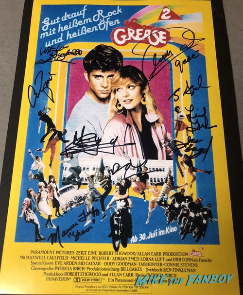 Grease 2 signed autograph poster german didi conn maxwell caulfield